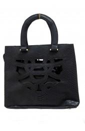 Cutwork Grab Bag Black