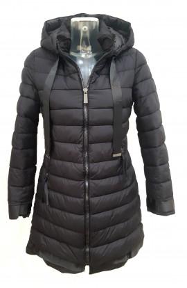 Mid Length Puffa Jacket Black