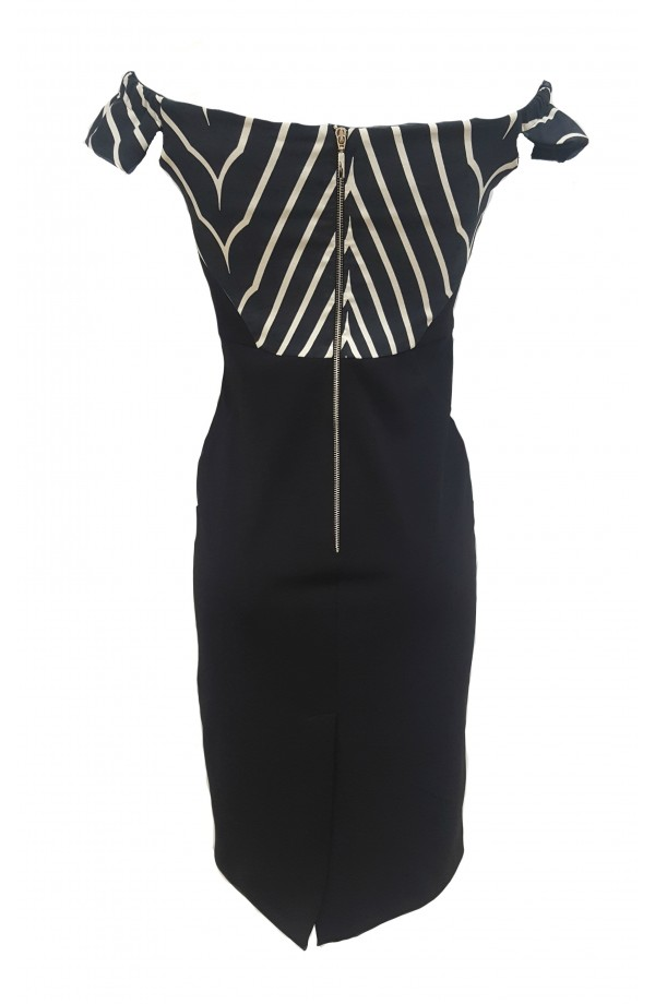 Chevron Panel Dress