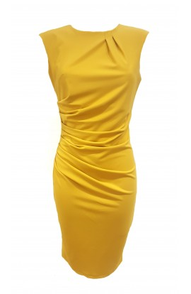 Signature Dress Mustard