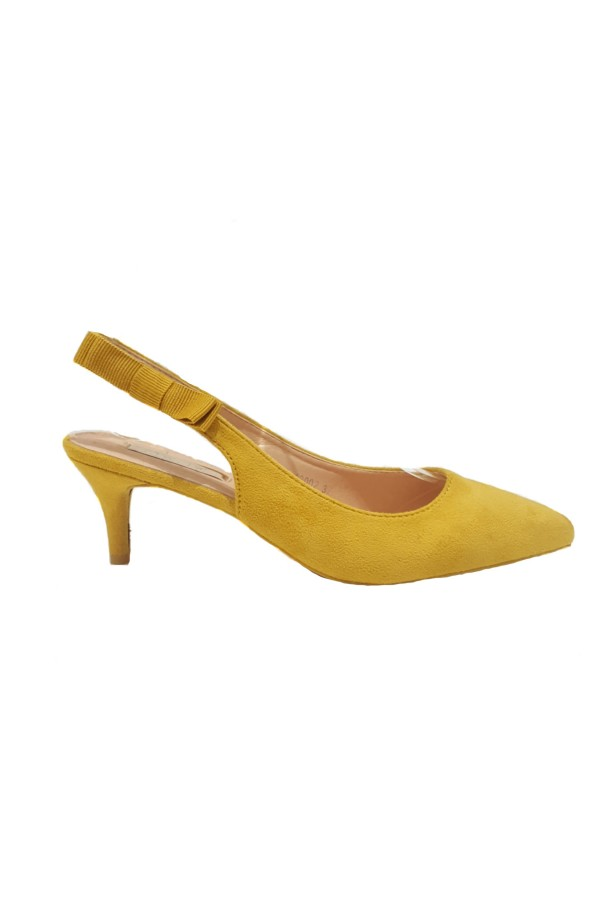 Bow Side Sling Back Mustard
