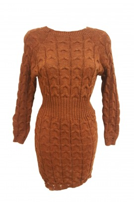 Cable Knit Jumper Dress (More Colours)