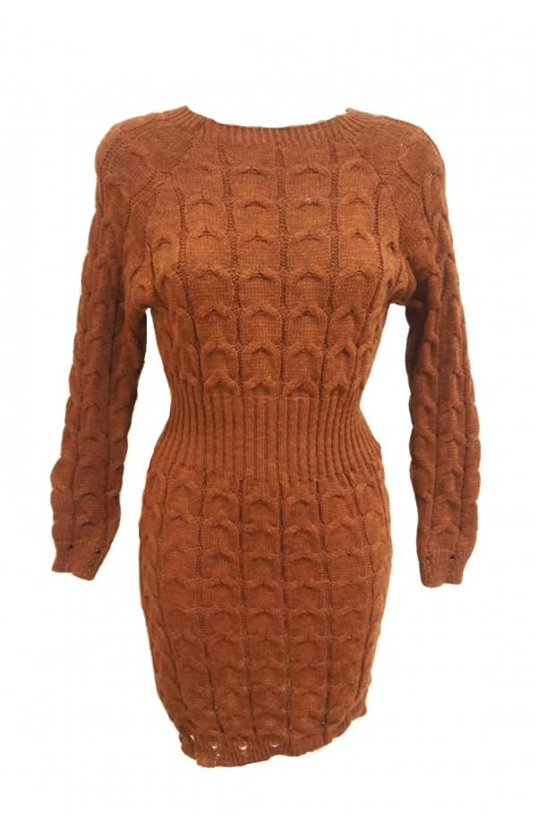 Cable Knit Jumper Dress (More Colours)