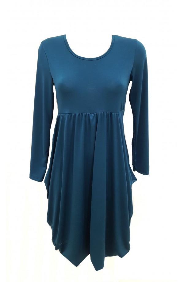 Long Sleeve Drape Front Dress (More Colours)