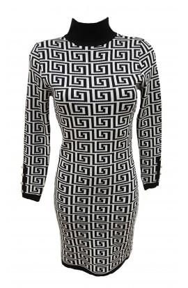 Greek Keyprint Kint Dress