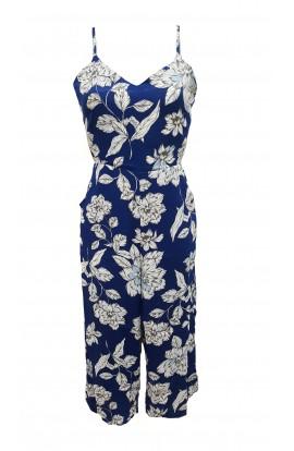 Floral Culotte Tie Back Jumpsuit