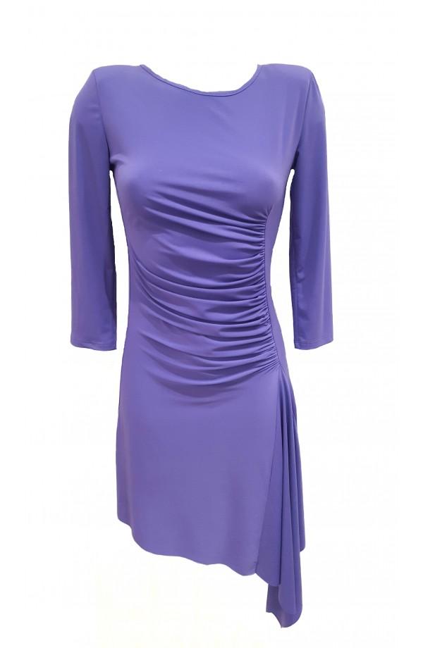 Gathered Dress Lilac