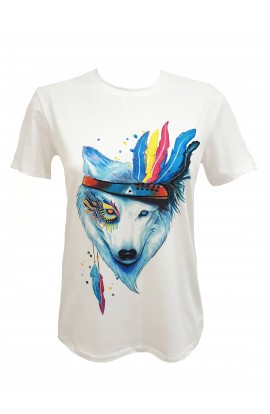 Wolf and Feathers T-shirt