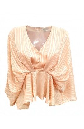 Batwing Stripe Top Blush
