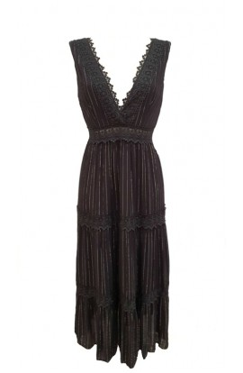 Pinstripe Dress Black