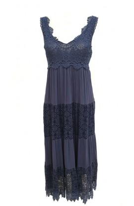 Crochet Panel Dress (More Colours)