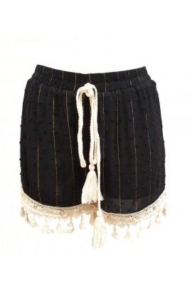 Tassel Shorts Black