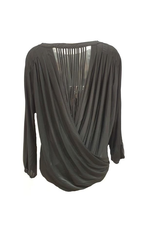 Long Sleeve Backless Top