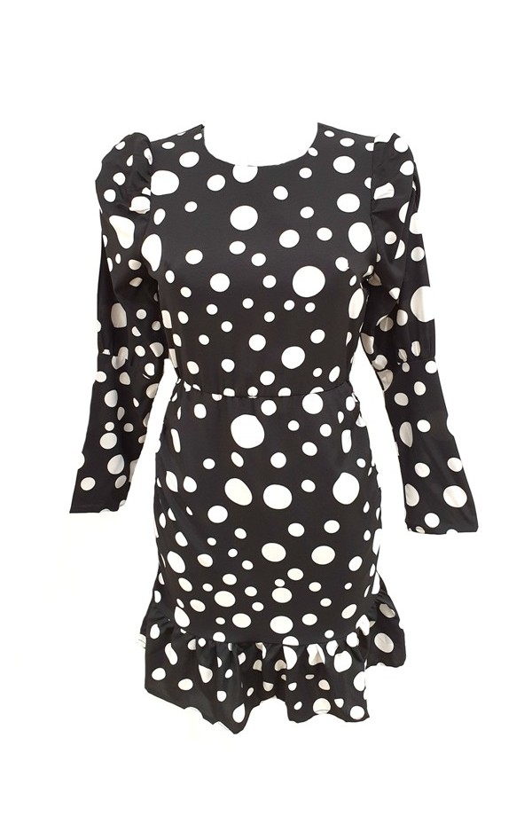 Long Sleeve Dot Dress