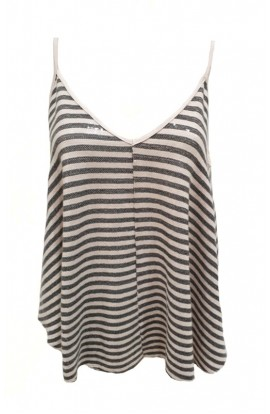 Stripe Sequin Top (More Colours)