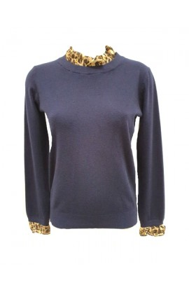Leopard Frill Jumper (More Colours)