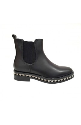 Jewel Trim Boots Black