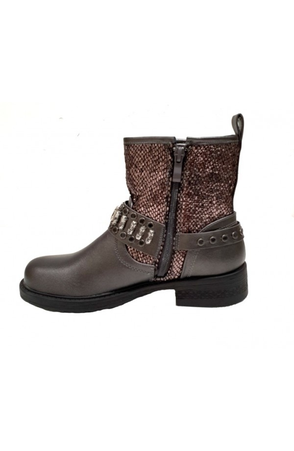 Snake and Jewel Detail Boot