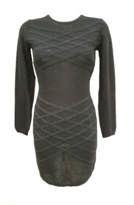 Bandage Bodycon Dress Black