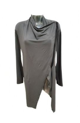 Side Zip Cardi Grey