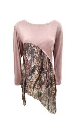 Feather Print Drape Top (More colours)