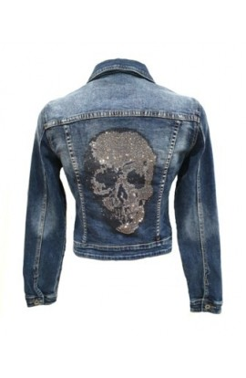Skull Back Denim Jacket
