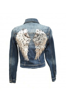 Wing Back Denim Jacket