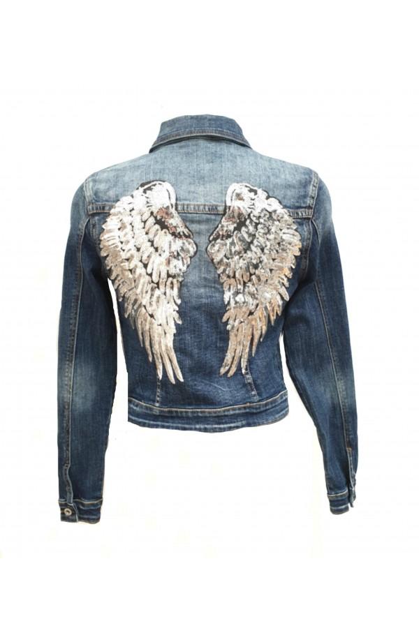 Wing Back Denim Jacket