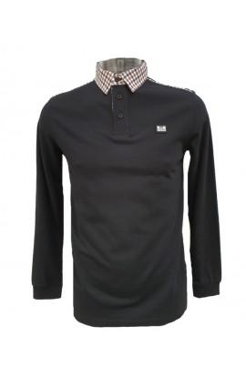 Jasper Long Sleeve Polo Black