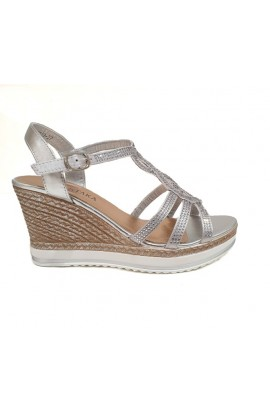 Sequin Wedges Silver