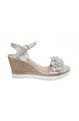 Flower Wedges Silver