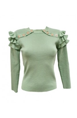 Frill Button Jumper (other colours available)
