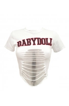 Baby Doll Slashed T-shirt