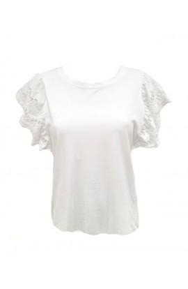Crochet Sleeve T-Shirt