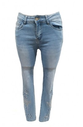 Diamante Trim Jeans