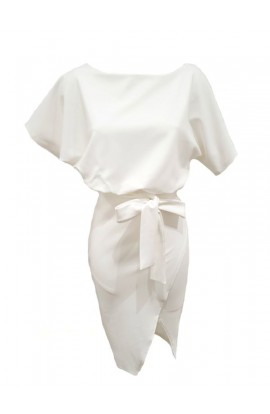 Belted Dress White