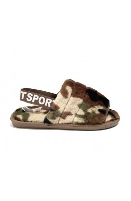 Camo Slippers Green