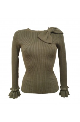 Bow Neck Jumper (More Colours)