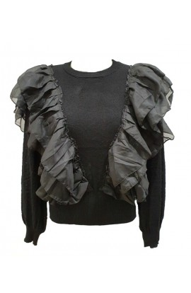 Frilly Sleeve Jumper (More Colours)