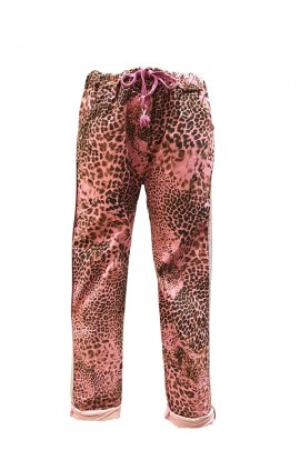 Leopard Metallic Trim Magic Pants