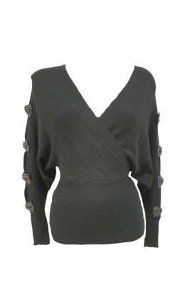 Bow Sleeve Jumper (More Colours)