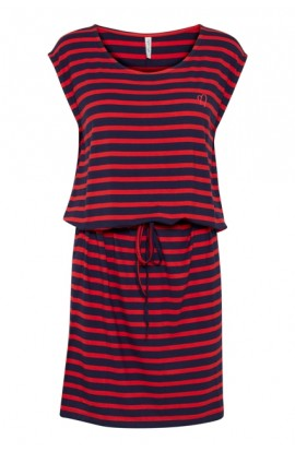 Bernadette Dress Navy/Red