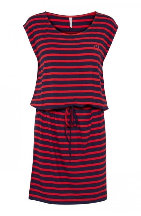 Bernadette Dress Navy/Red