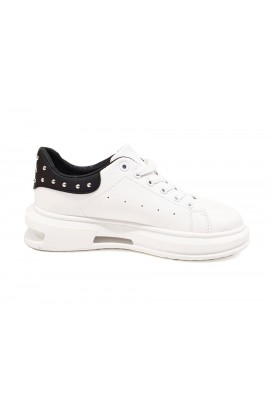 Stud Back Trainers White