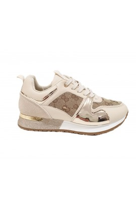 Metallic Detail Trainers Gold