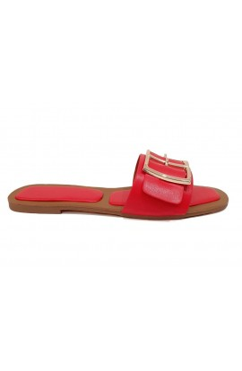 Buckle Detail Slider Red