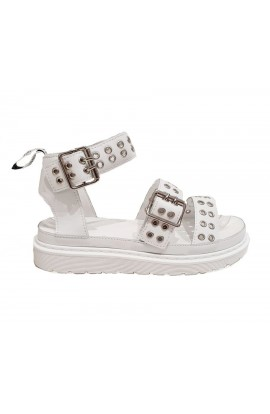 Buckle Sandals White
