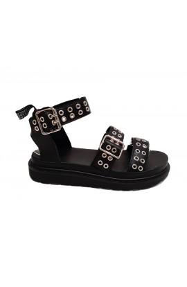 Buckle Sandals Black