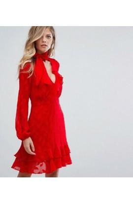 Rochelle Dress Red