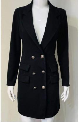 Long Length Blazer Black